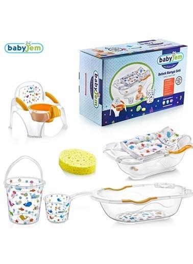 Baby Jem Babyjem Bebe Lüx Banyo Seti 6 Parça  Beyaz